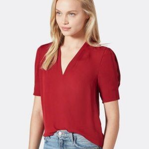 JOIE Ance Silk Top Red - size XS